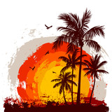 Fototapety Tropical sunset