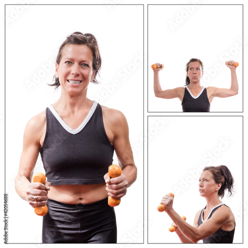 Fitnessfrau Collage