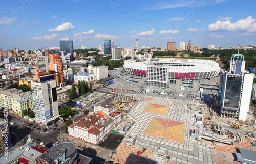 Preparation of stadium to Euro 2012 in Kiev. - 42054820