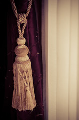 Vintage brown curtain