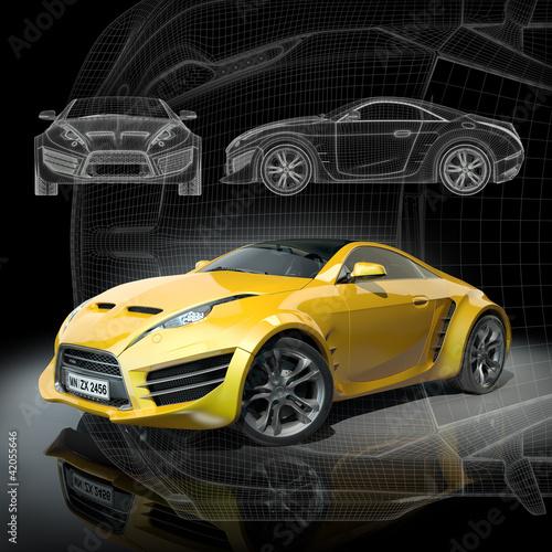 koncepcja-samochodu-3d