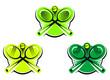 Tennis icons and symbols