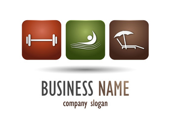 Business logo sport desing