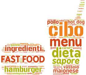 fast food simbolo tag cloud