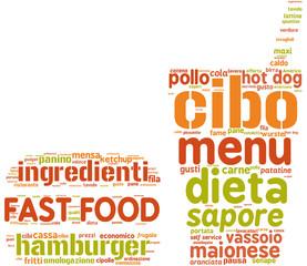 fast food simbolo tag cloud