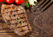 canvas print picture - Juicy grilled beef steak