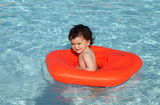 Baby in swimming pool