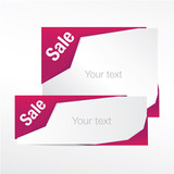 sale progress vector banner