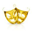 Gold theater masks