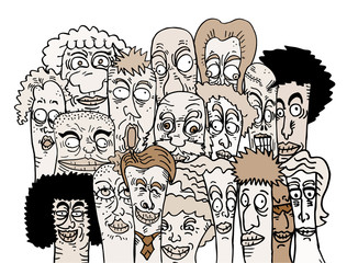 Social cartoon people