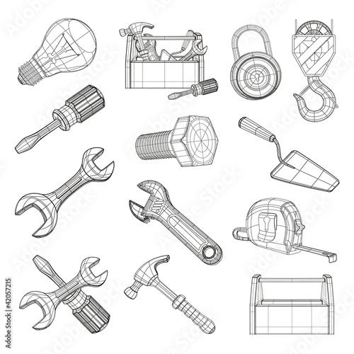 Zestaw narzędzi do rysowania