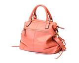 Pink Leather Ladies Handbag