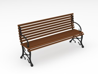 digital render of a park bench