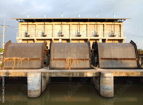 Floodgate in the river