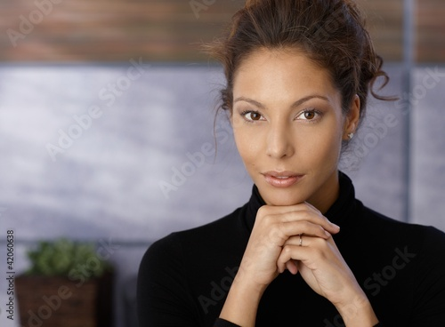 Portrait of beautiful businesswoman