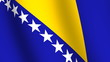Waving flag of   Bosnia and Herzegovina
