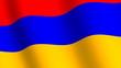 Waving flag of   Armenia