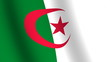 Waving flag of   Algeria