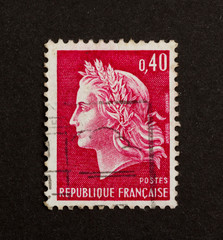 FRANCE - CIRCA 1970: Stamp printed in France