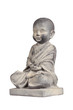 Statue of young Buddha isolated with clipping path