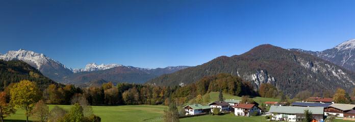 Charming bavarian town nestled in the Alp foothills