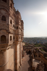 Panoramic view from  Mehrangarh Fort to Jodhpur