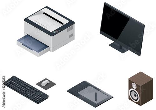 Vector computer devices icon set