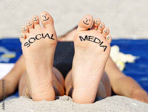 Social Media - Fun at the Beach