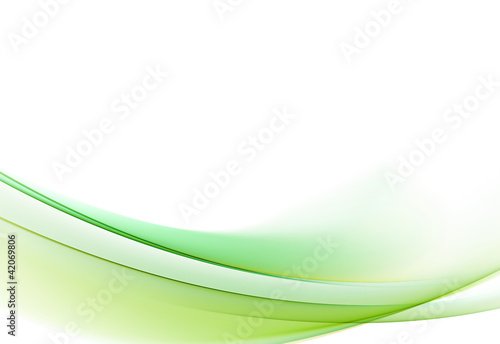 Gentle green fractal background