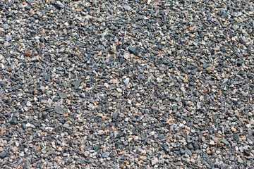 Background of gray granite gravel