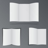 Folded advertisement brochures