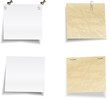 Set of new and old natepad sheets
