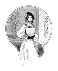 Nice Young Woman - 19th century