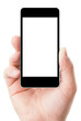 smartphone in hand with blank screen - 42072612