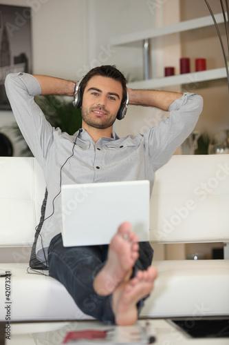 Man listening to tunes