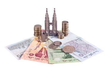 Petronas towers and malaysian money