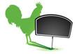 panneau : oeufs, élevage de poulet