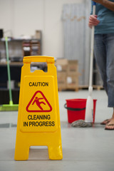 Warehouse Cleaning Safety Wet Floor