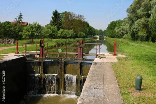 In de dag Kanaal Ecluse et Canal du Nivernais