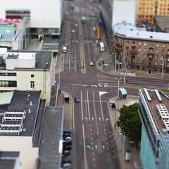 Tallinn city streets with traffic