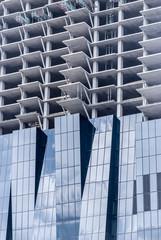 Texture of windows of modern buildings