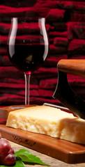 Rotweinglas Parmesan