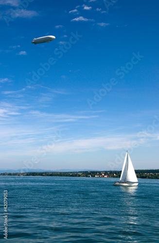 Segelboote am Bodensee