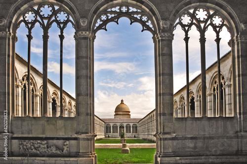 Pisa, piazza dei miracoli - Cimitero Monumentale Poster