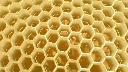 3D Honeycomb wide shot rotating