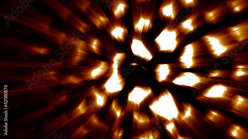 3D animation with rays effect - hexagon source