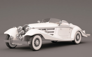 Classic Elegant White Wedding Car