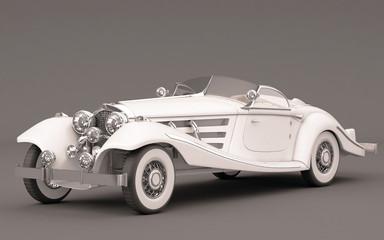 Classic Elegant White Wedding Car