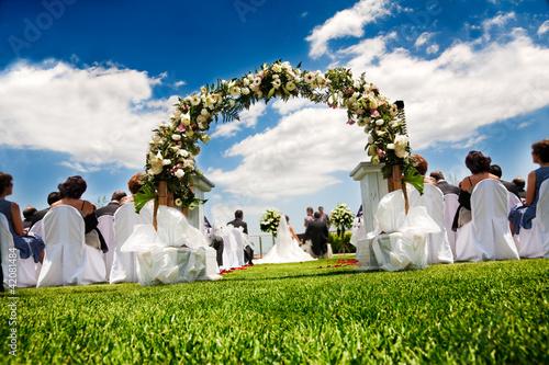 Leinwandbild Motiv boda al aire libre