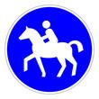 Sonderweg für Reiter – RGB blau